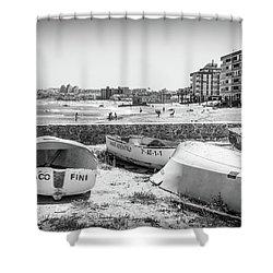 Boats On The Beach Shower Curtain