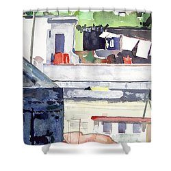 Boats On The Quay Shower Curtain