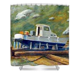 Boatyard II Shower Curtain