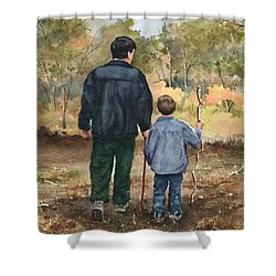 Bob And Alex Shower Curtain by Sam Sidders