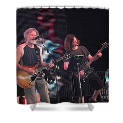 Shower Curtain featuring the photograph Bob And John - Furthur by Susan Carella