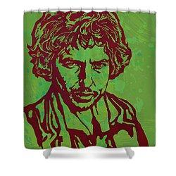 Bob Dylan Pop Art Poser Shower Curtain by Kim Wang