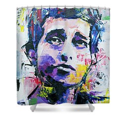 Bob Dylan Portrait Shower Curtain by Richard Day