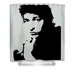 Bob Dylan Poster Print Quote - The Times They Are A Changin Shower Curtain