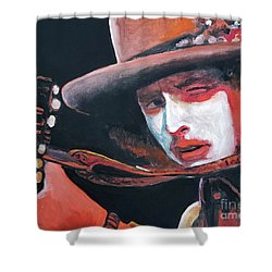 Bob Dylan Shower Curtain by Tom Carlton