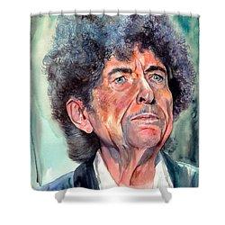 Bob Dylan Watercolor Portrait  Shower Curtain