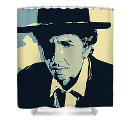 Bob Dylan Shower Curtain by Greatom London