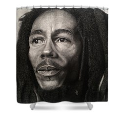 Bob Marley Drawing Shower Curtain