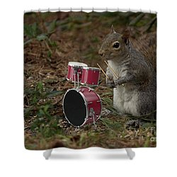 Bob The Drummer Shower Curtain