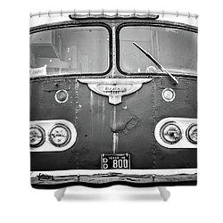 Bob Wills Tour Bus Bw Shower Curtain