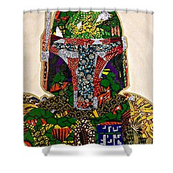 Boba Fett Star Wars Afrofuturist Collection Shower Curtain