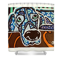 Bobby Blue Eyes Shower Curtain
