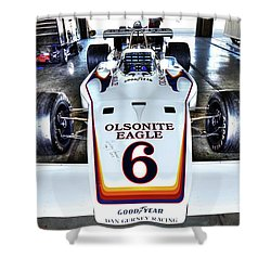 Bobby Unser's 1972 Indianapolis 500 Car. Shower Curtain