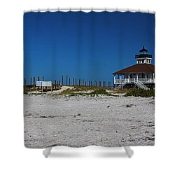 Shower Curtain featuring the photograph Boca Grande Lighthouse Ix by Michiale Schneider