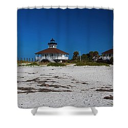 Shower Curtain featuring the photograph Boca Grande Lighthouse X by Michiale Schneider