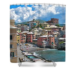 Boccadasse 2-genova, Italy Shower Curtain