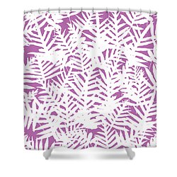 Bodacious Ferns White Shower Curtain