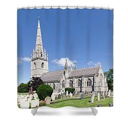 Bodelwyddan Church Shower Curtain by Steev Stamford