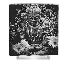 Bodhisattva Parametric Shower Curtain by Sharon Mau