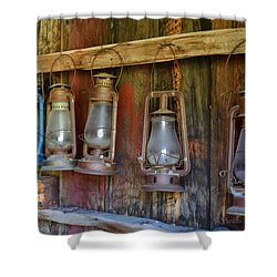 Bodie Blue Light Special Shower Curtain