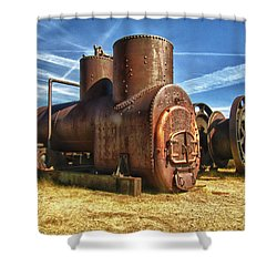 Old Boiler Bodie State Park Shower Curtain