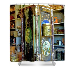 Bodie Coffee Display Shower Curtain