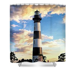 Shower Curtain featuring the painting Bodie Island Lighthouse by Christopher Arndt