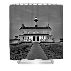 Bodie Lighthouse Night Shower Curtain by Marion Johnson