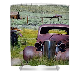 Bodie Rust Shower Curtain