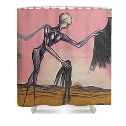 Body Soul And Spirit Shower Curtain by Michael  TMAD Finney