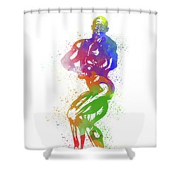Bodybuilder Watercolor 2 Shower Curtain