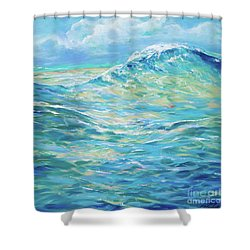 Bodysurfing Rolling Wave Shower Curtain