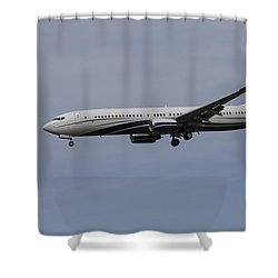 Boeing 737 Private Jet Shower Curtain