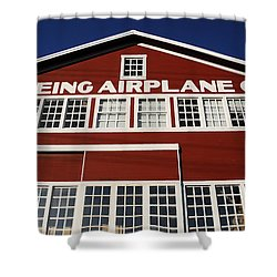 Boeing Airplane Hanger Number One Shower Curtain by David Lee Thompson