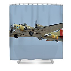 Shower Curtain featuring the photograph Boeing B-17g Flying Fortress N93012 Nine-o-nine Phoenix-mesa Gateway Airport Arizona April 15, 2016 by Brian Lockett