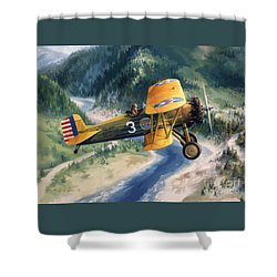 Boeing Country Shower Curtain by Randy Green