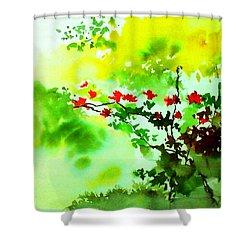 Boganwel Shower Curtain by Anil Nene