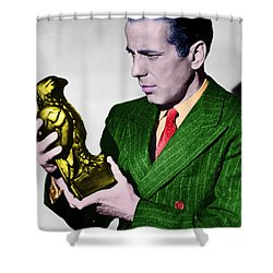 Bogart In Color With The Falcon Shower Curtain