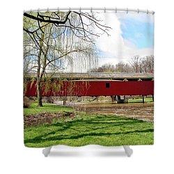 Bogert Covered Bridge Shower Curtain