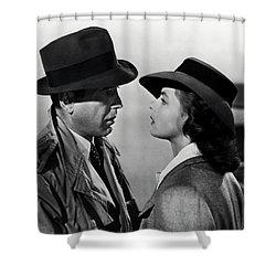 Bogey And Bergman Casablanca  1942 Shower Curtain