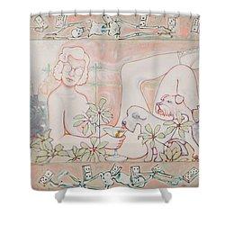 Bohemian Grove Bar Shower Curtain