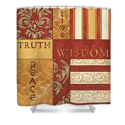 Bohemian Red Spice 2 Shower Curtain by Debbie DeWitt