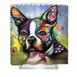 Boston Terrier Shower Curtain