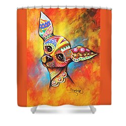 Chihuahua Shower Curtain by Patricia Lintner