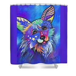 Corgi Shower Curtain by Patricia Lintner