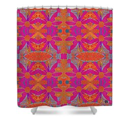 Shower Curtain featuring the painting Boho Hippie Garden - Pink by Lisa Weedn