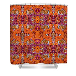 Shower Curtain featuring the painting Boho Hippie Garden - Tangerine by Lisa Weedn