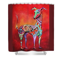 Italian Greyhound  Shower Curtain by Patricia Lintner