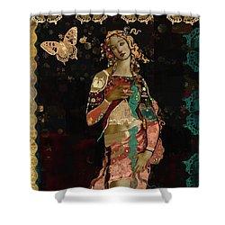 Boho Venus Shower Curtain by Carrie Joy Byrnes
