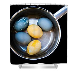 Shower Curtain featuring the photograph Boiled Eggs by Ari Salmela